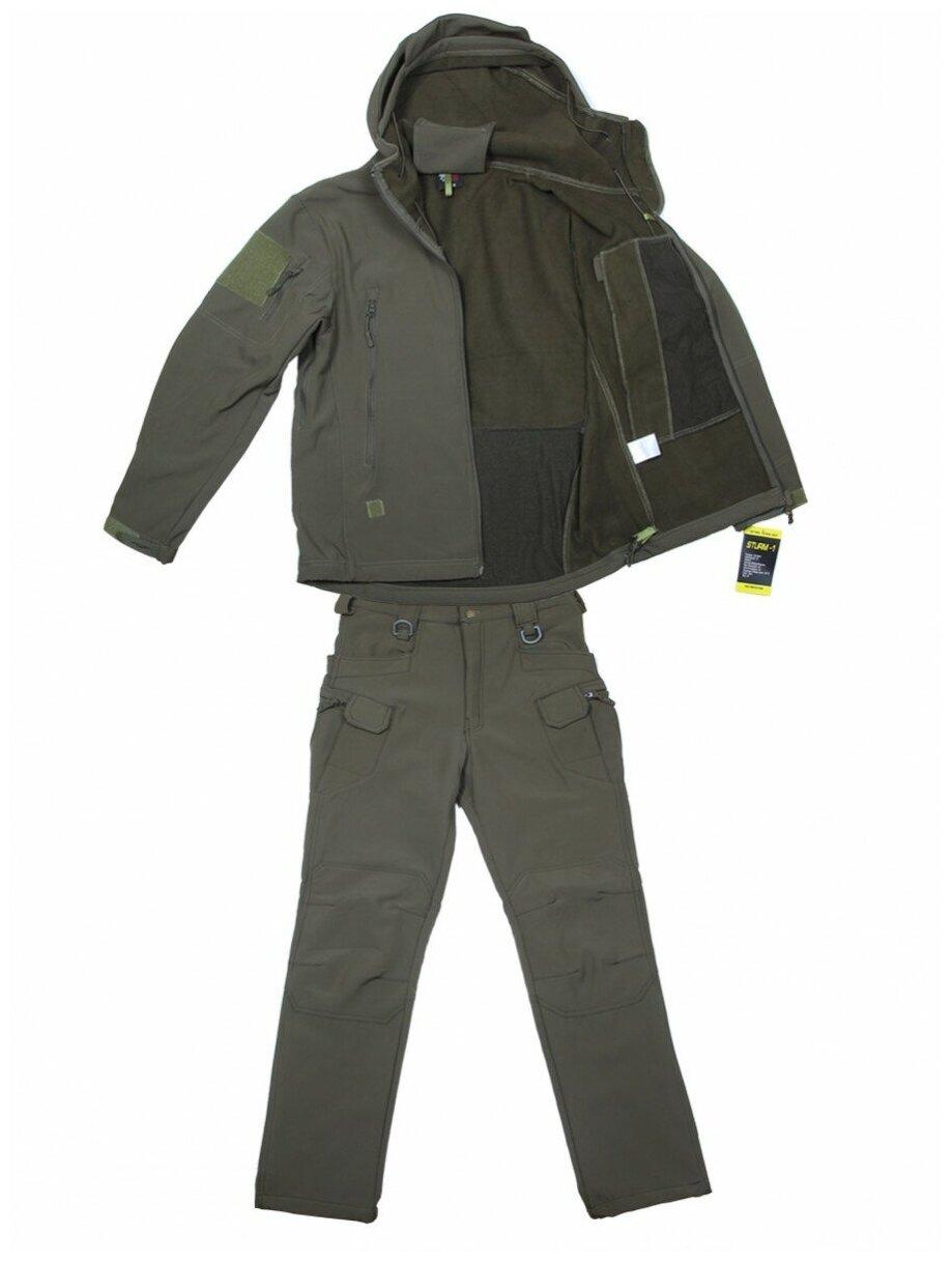 """Тактический костюм софтшелл Softshell Tactical Suit """"STURM-1"""", до -10С, цвет Олива (Olive)-XXXL — купить по выгодной цене на Яндекс.Маркете"""