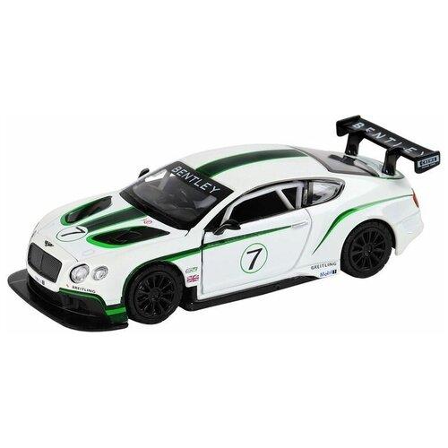 Купить Машина автопанорама Bentley Continental GT3, белый, 1/32, свет, звук, инерция, в/к 17, 5*13, 5*9 см - JB1251315, Автопанорама, Машинки и техника