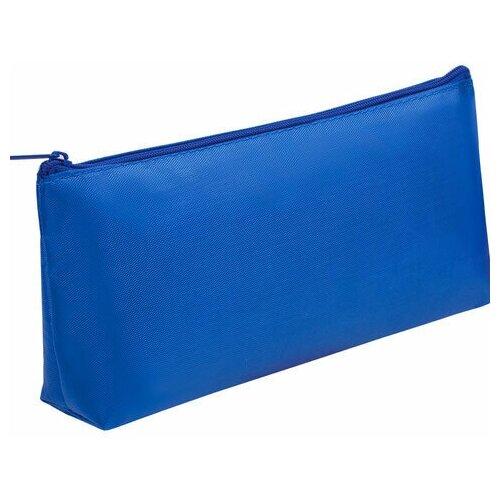 Купить Пенал-косметичка пифагор на молнии, текстиль, синий, 19х4х9 см, 229004, Пифагор, Пеналы
