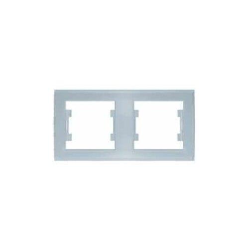 Рамки скрытой установки Universal Рамка 2-м Бриллиант горизонт. серебр. UNIVersal 7949711