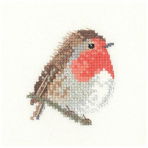 Набор для вышивания Птичка зарянка HERITAGE LFRB1003E