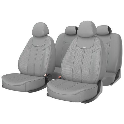 Универсальные чехлы на автомобильные сиденья CarFashion MUSTANG серый/серый/серый