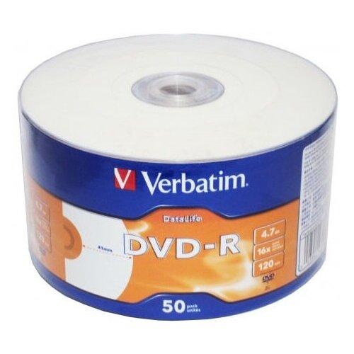 Диск DVD-R Verbatim 43793 4.7Gb 16x bulk (50шт) Printable