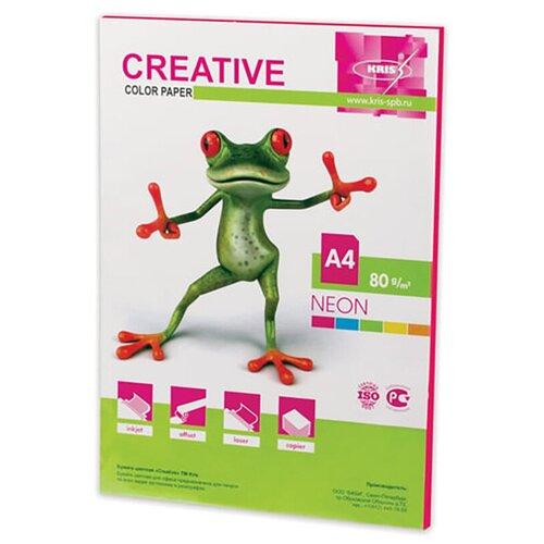 Фото - Бумага цветная CREATIVE color, А4, 80 г/м2, 50 л., неон, малиновая, БНpr-50м водяной полотенцесушитель grota kamelo 50 80
