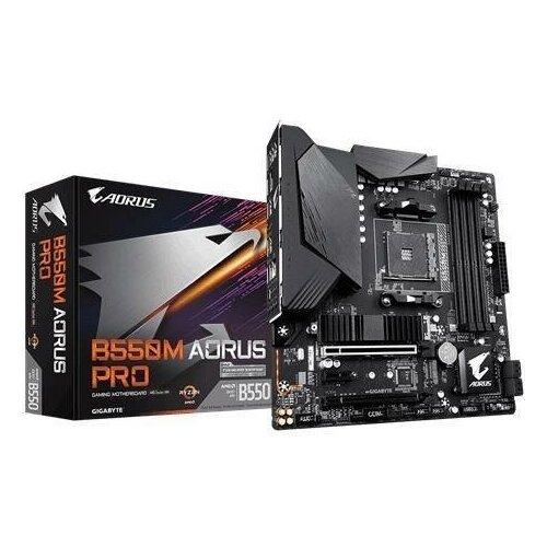 Материнская плата AMD B550 SAM4 MATX B550M AORUS PRO-P GIGABYTE
