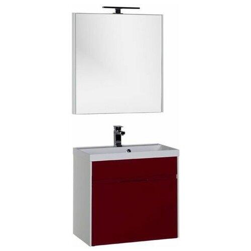 Aquanet Комплект мебели для ванной Aquanet Латина 70 бордо (1 ящик) (00181081)