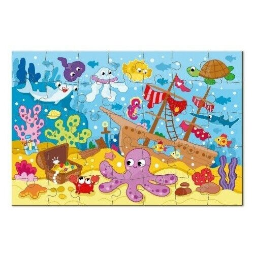 Пазл-мини Dodo Морские жители, 35 элементов пазлы dodo пазл мини маленькие принцессы 35 элементов