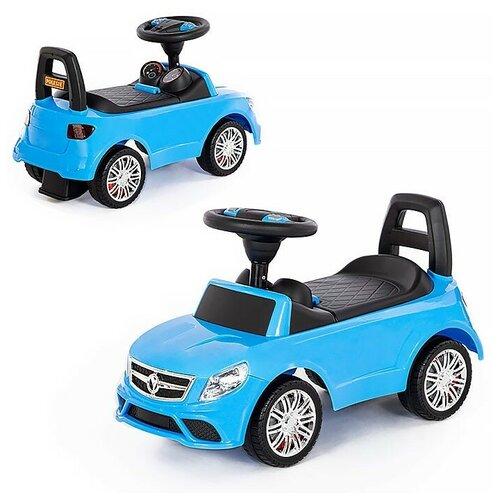 Каталка-автомобиль SuperCar №3 со звуковым сигналом (голубая) недорого