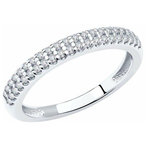 SOKOLOV Серебряное кольцо с дорожкой фианитов 94011536, размер 20.5