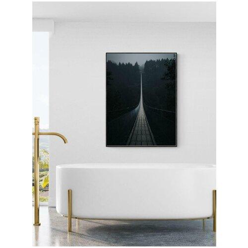 Плакат Просто Постер Подвесной мост Гайерлай - Германия 60x90 в подарочном тубусе