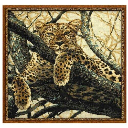 Купить Риолис Набор для вышивания крестом Леопард 60 х 60 (937), Наборы для вышивания