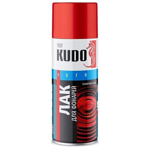 Лак KUDO KU-9022 для фонарей красный тонировочный 520 мл