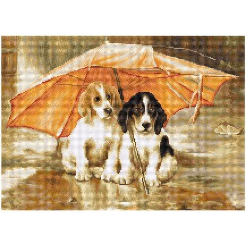 Luca-S Набор для вышивания Двое под зонтом 21.5 х 15.5 см (G550)