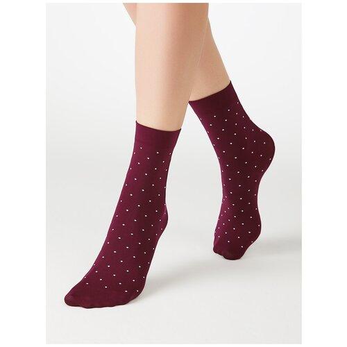 Капроновые носки MiNiMi Micro pois 70, размер 0 (one size), mosto