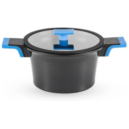 Кастрюля GIPFEL TIFFI, 4 л, черный/голубой кастрюля gipfel bavari 4 л серый