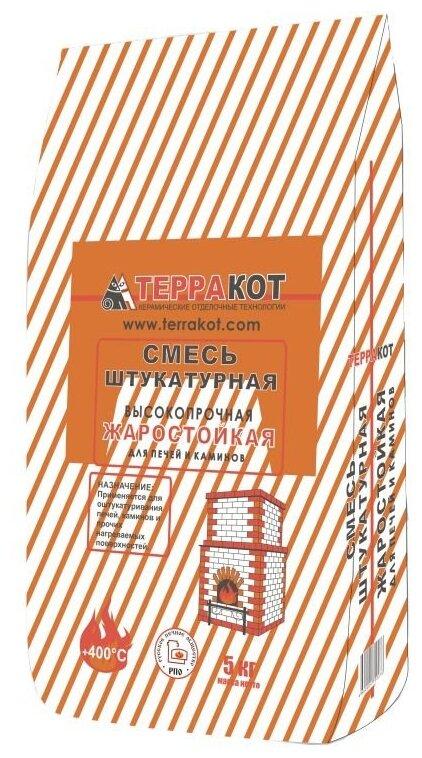 Штукатурка ТЕРРАКОТ жаростойкая, 5 кг — купить по выгодной цене на Яндекс.Маркете