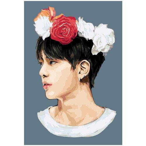 Купить Картина по номерам BTS Джин Арт, 30 х 40 см, Красиво Красим, Картины по номерам и контурам