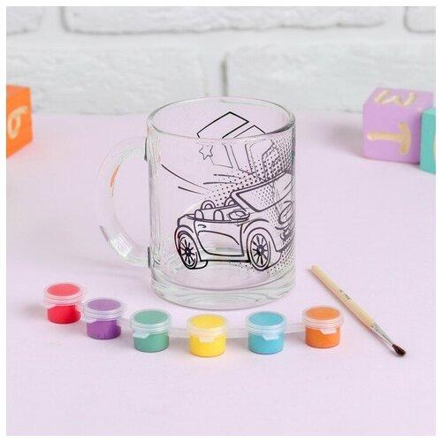 Купить Роспись стеклянной кружки красками Чемпион на дороге 4583507, Школа талантов, Роспись предметов