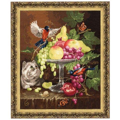 Золотое Руно Набор для вышивания Ваза с фруктами 33, 9 х 40, 9 см (ГН-013), Наборы для вышивания  - купить со скидкой
