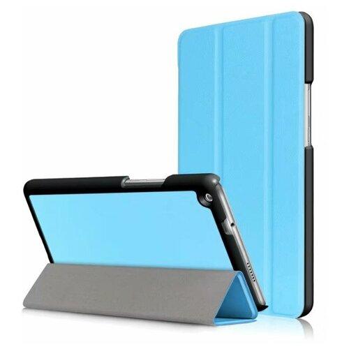 Чехол-обложка MyPads для Huawei MediaPad M3 Lite 8 (CPN-W09/AL00) тонкий умный кожаный на пластиковой основе с трансформацией в подставку голубой