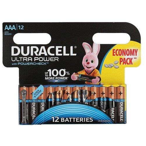 Фото - Батарея Duracell Ultra Power LR03-12BL AAA (12шт) батарея duracell ultra power lr03 4bl aaa 4шт