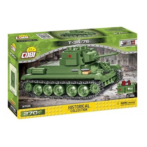Фото - Конструктор Cobi World War II 2706 T-34/76 конструктор cobi small army world war ii 2188 амфибия vw typ 166 schwimmwagen