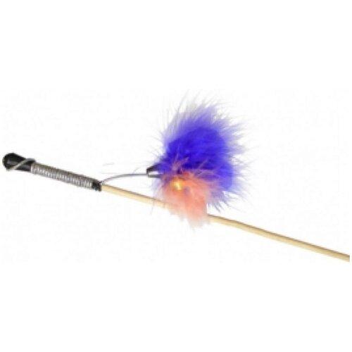 Gosi 07085 игрушка для кошек махалка перо на веревке этикетка флажок, 84859 (2 шт)
