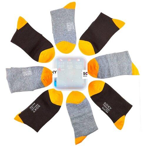 Женские классические высокие носки Soxy / комплект 6 пар в пластиковом боксе