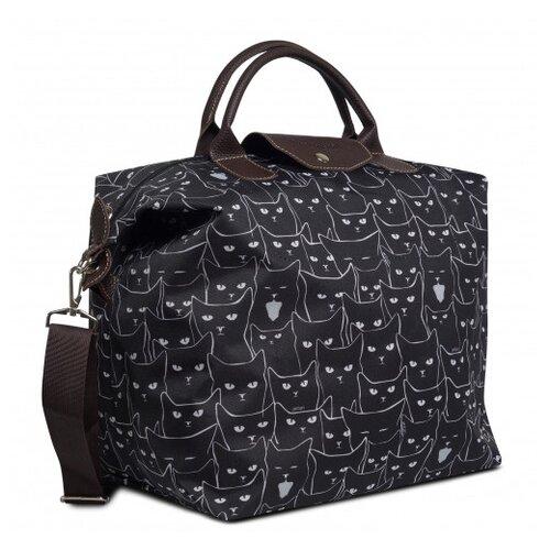 Дорожная сумка Antan, 2-313 коты ч/б antan/черный