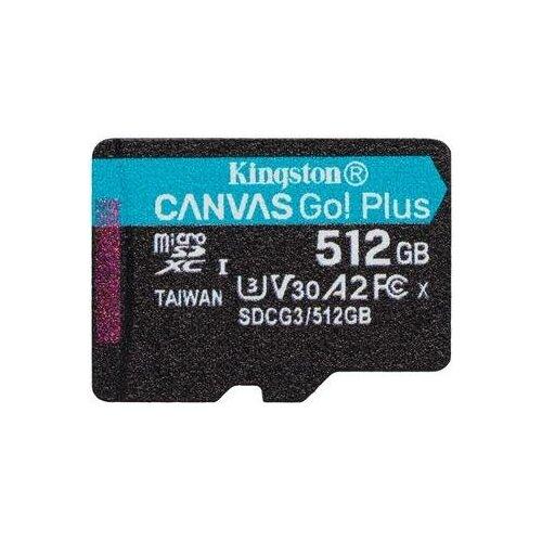 Фото - Карта памяти 512 ГБ microSDXC Kingston Canvas Go! Plus Class 10 UHS-I (SDCG3/512GBSP) карта памяти sdxc uhs i u3 kingston canvas go plus 512 гб 170 мб с class 10 sdg3 512gb 1 шт