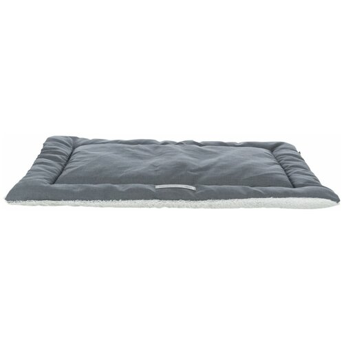 Лежак-подстилка Farello, плюш / ткань, 110 х 75 см, бело-серый / серый, Trixie (37237)
