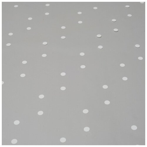 Бумага упаковочная Комус пленка, белый горох, 0,7х7,5 м, 200 г, 40 мкм