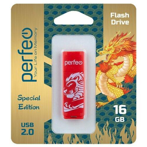 Фото - Флеш Perfeo USB 16GB C04 Red Lion флешка perfeo c04 16gb black