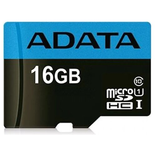 Фото - Карта памяти Adata microSDHC Premier Class 10 UHS-I U1 (30/10MB/s) 16GB a data карта памяти 16gb premier a1 microsdhc uhs i class 10 adata 90 25 mb s с адаптером