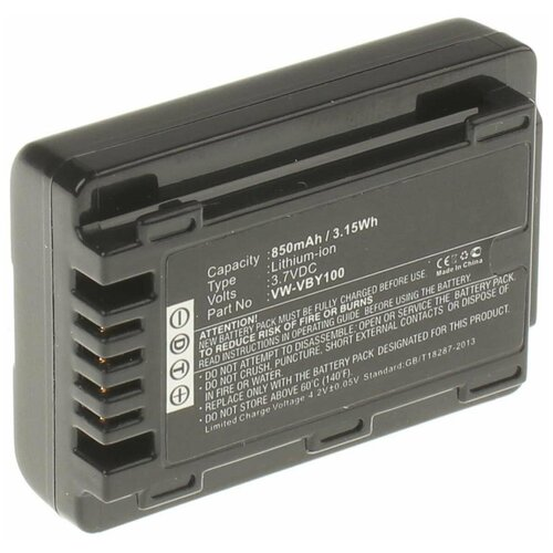 Фото - Аккумулятор iBatt iB-B1-F238 850mAh для Panasonic VW-VBY100, аккумулятор ibatt ib b1 f457 3400mah для panasonic vw vbt190 vw vbt380 vw vby100 vw vbt380e k