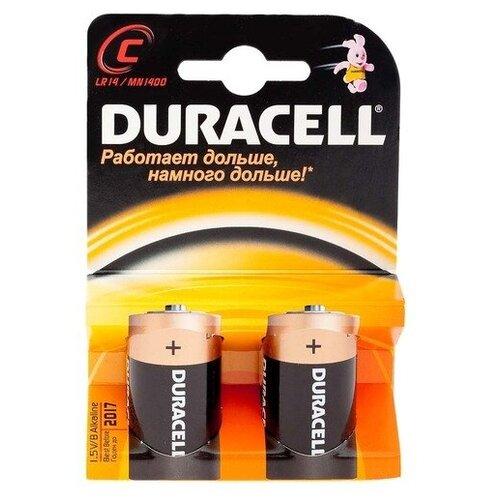 Фото - Батарейки Duracell C/LR14 (2 шт.) батарейки panasonic c r14 пленка 2 шт