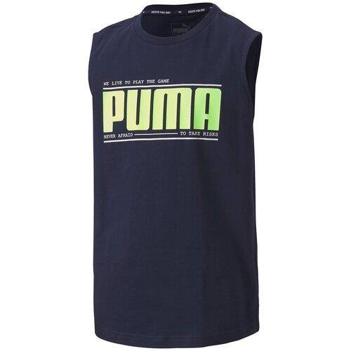 Футболка Puma Active Sports Sleeveless Tee B Peacoat Синий 140 58117106 puma худи женская puma modern sports размер 44 46