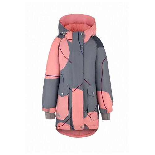 Купить Куртка Oldos размер 140, серый, Куртки и пуховики