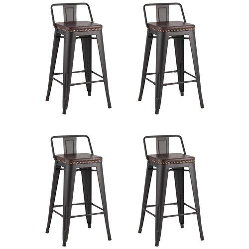 Фото - Стул полубарный TOLIX SOFT черный матовый(комплект 4 стула) стул полубарный peggy 60 матовый коричневый черный