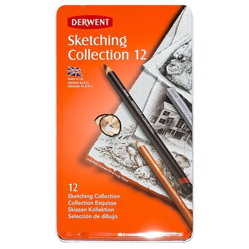 Купить Derwent Набор цветных карандашей 12 цв12 шт34305 Sketching Collection 1 шт., Цветные карандаши