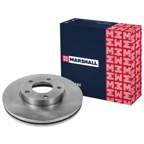 Тормозной диск передний MARSHALL M2000431 для Mazda 3 (BK, BL) 03-, Mazda 5 (CR19, CW) 05- // кросс-номер TRW DF4384 // OEM C24Y3325XC9A; C24Y3325XB; BP4Y3325XB; BP4Y3325XC; C24Y3325XD