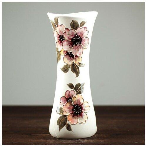 Керамика ручной работы Ваза настольная Румба, цветы, 36 см, керамика ваза керамика ручной работы кегля 4341586 коричневый