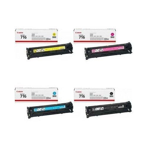 Canon 1977B002-1978B002-1979B002-1980B002 Картриджи комплектом Cartridge 716CMYK полный набор CMYK:1.5K, BK:1.5K стр. [выгода 3%] для I-Sensys LBP5050, LBP5050N, MF8030, MF8040CN MF8040, MF8050Cn MF8050, MF8080; LaserBase MF8080CW MF8080