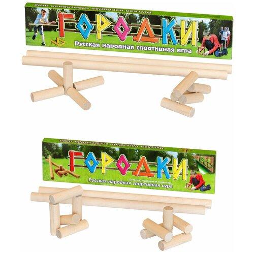 Набор спортивный: Городки (детская спортивная игра) 60 см. + Городки (детская спортивная игра) 49 см., Задира-Плюс