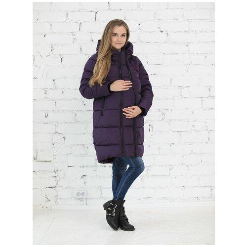 Фэст Куртка зимняя 2в1 Фэст 10303 баклажан для беременных (44)