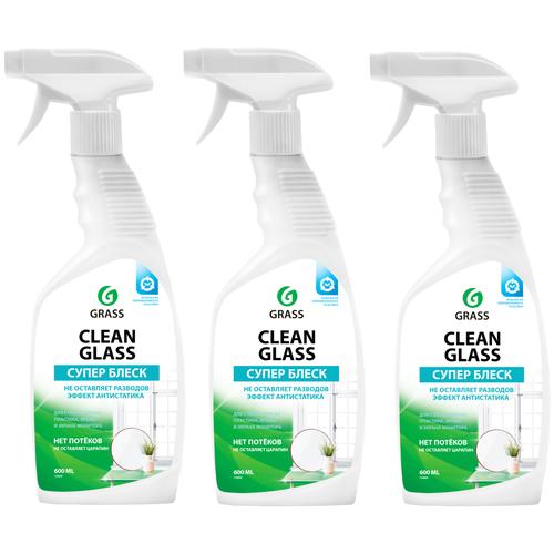 Фото - Очиститель стекол Clean Glass бытовой 600 мл, тригер, 3 Шт. очиститель стекол grass clean glass 110393 600 мл