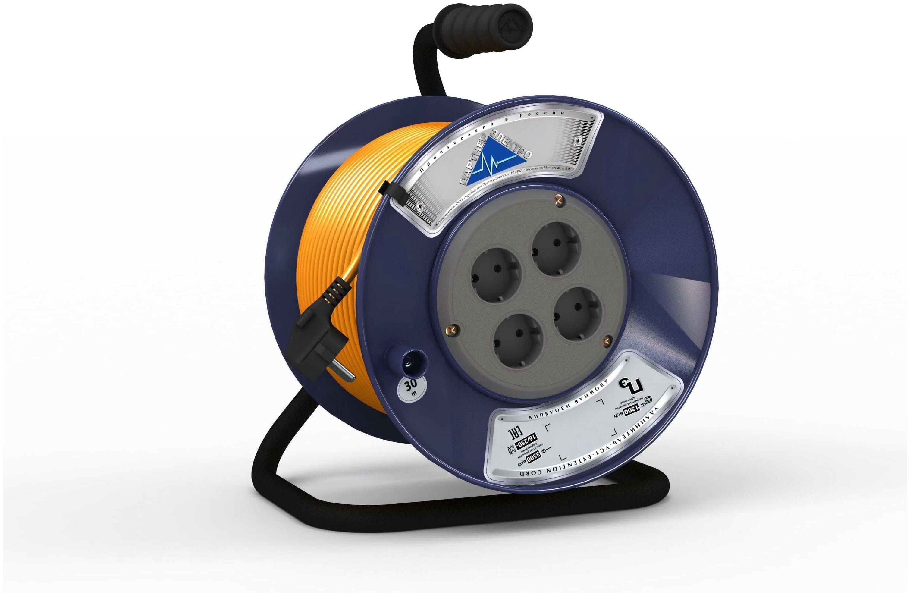 Удлинитель партнер-электро УТ-012073 ПВС 2х0.75 — купить по выгодной цене на Яндекс.Маркете