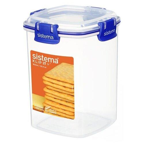 контейнер для печенья sistema 1 8 л 1333 Контейнер для печенья KLIP IT+ 0,9 л, материал пластик, Sistema, SI881332
