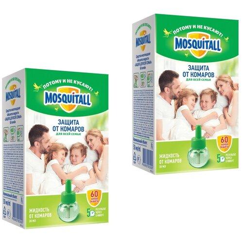 Жидкость для фумигатора Mosquitall Защита от комаров для всей семьи 30 мл 2 упаковки