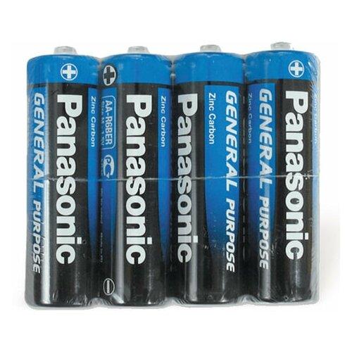 Фото - Батарейки комплект 4 шт., PANASONIC AA R6 (316), солевые, пальчиковые, в пленке, 1.5 В батарейки panasonic c r14 пленка 2 шт